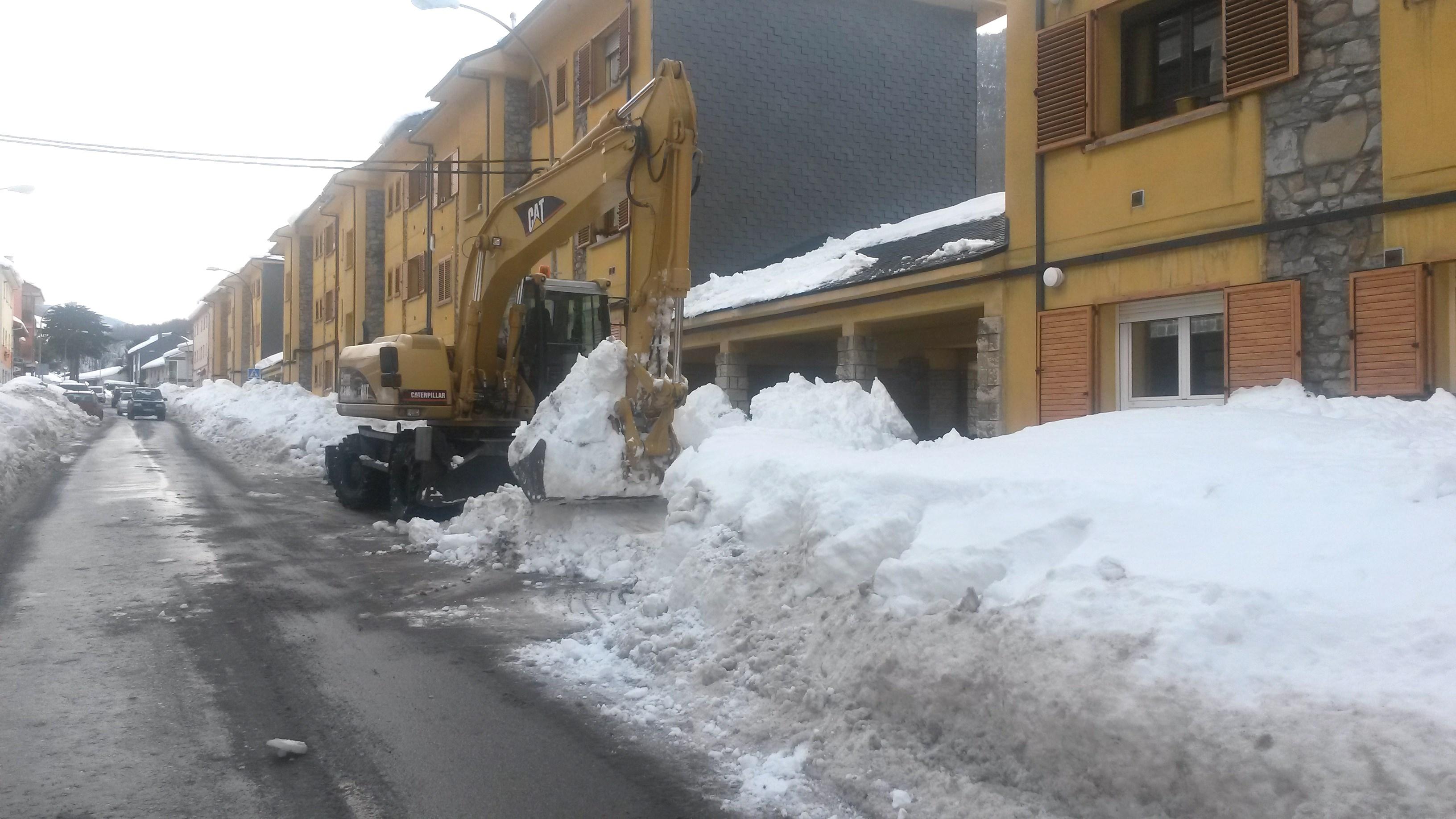 excavadora de nieve